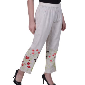 Embroidered Pants for Ladies