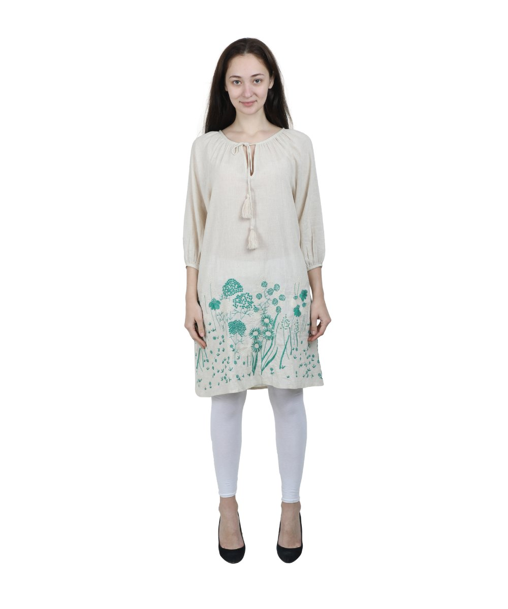 Green Embroidery Tunic