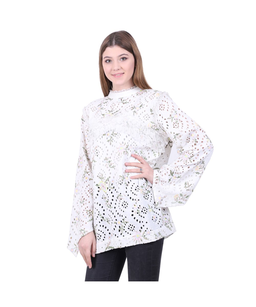 Schiffli Party Wear Top