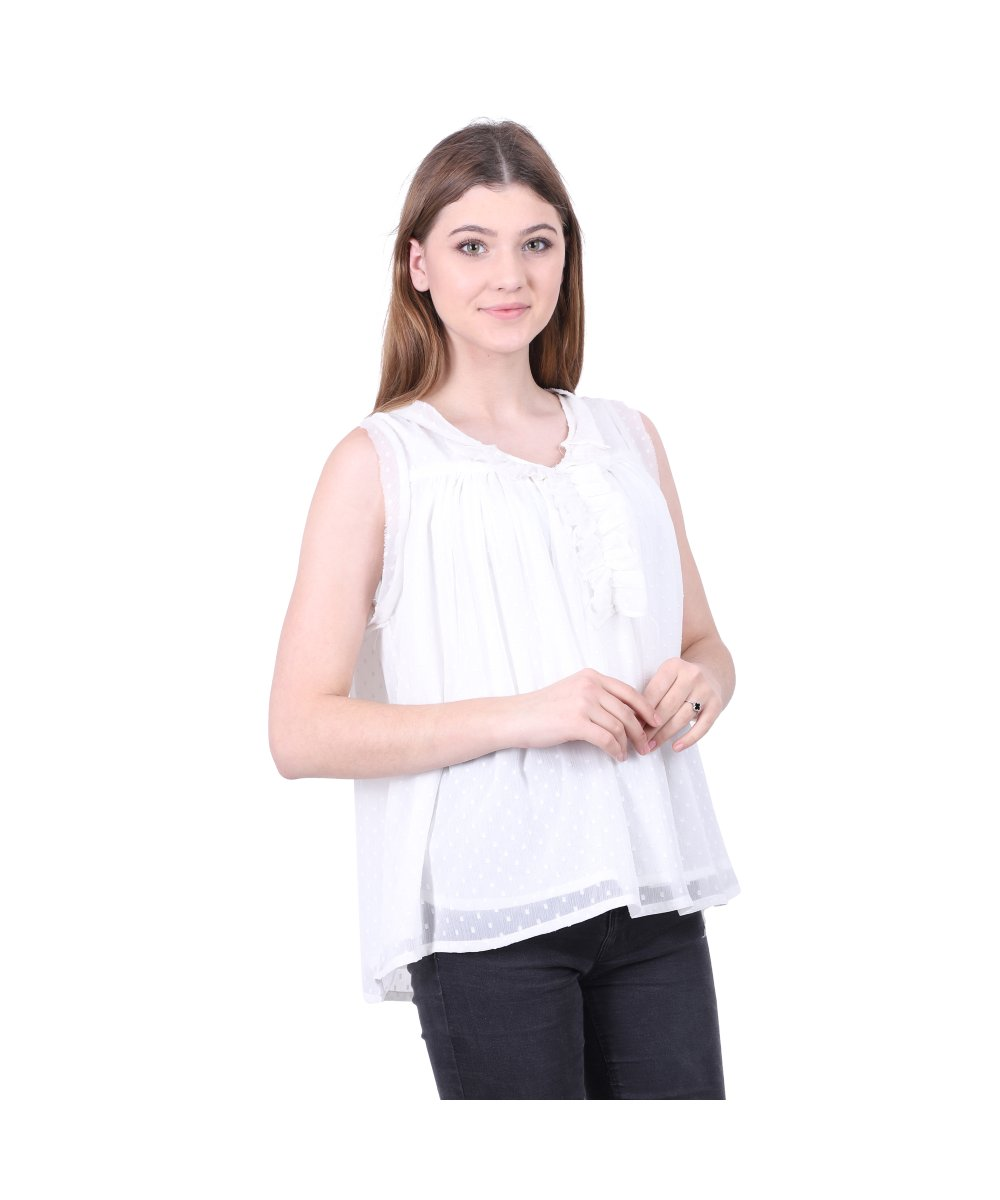 Viscose Sleeveless-Top
