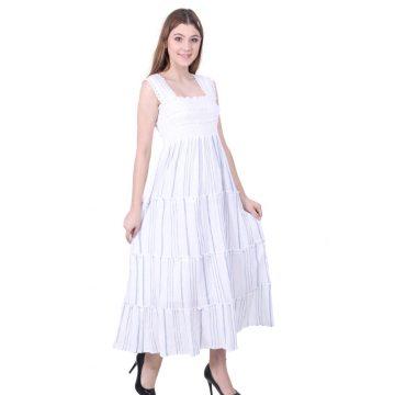 White Sleeveless Dress for women