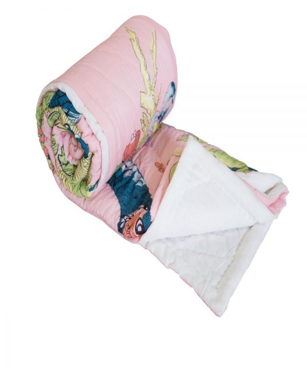 Digital peacock print quilt