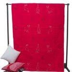 Red quilt-comforter