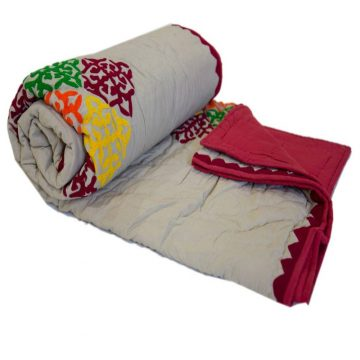 Woolen Embroidered quilt