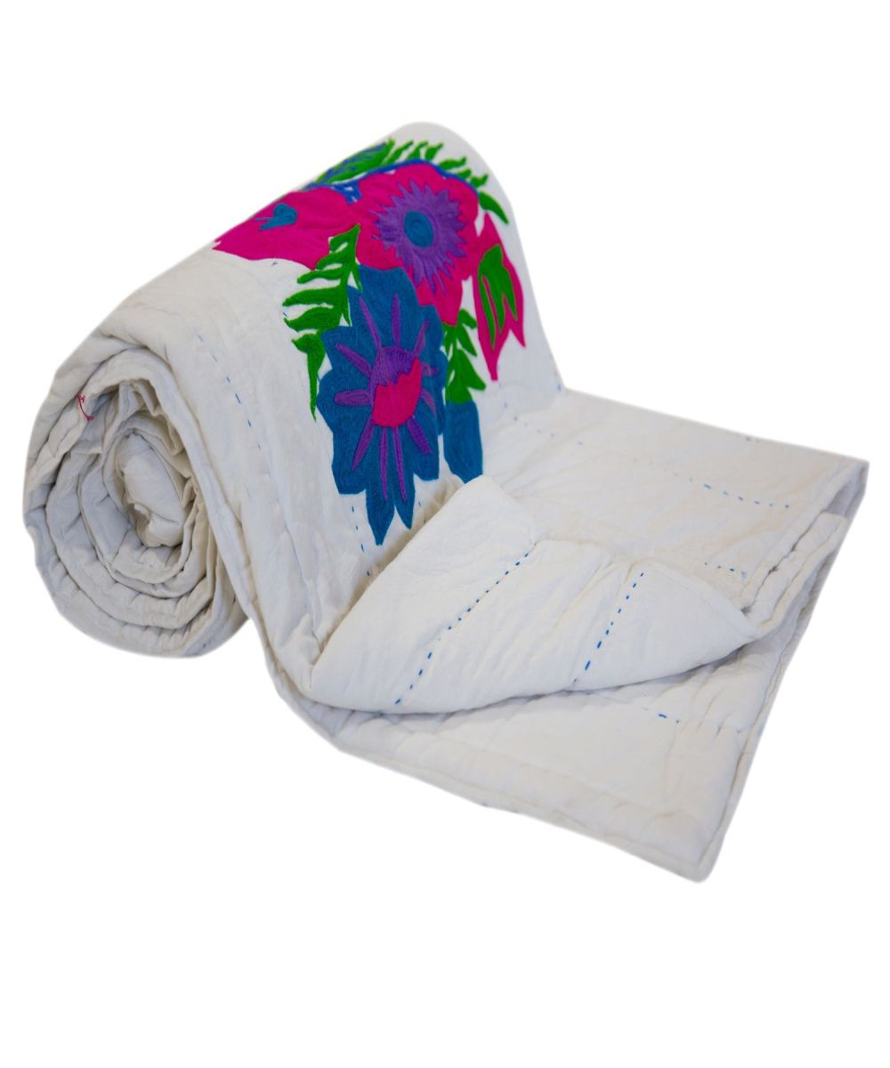Ari Work Embroidered Cotton Quilt and Comforter