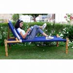 Navy Blue Cotton Rope Knitted Sunbed Charpai