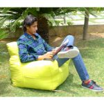 Yellow Organic Cotton Comfu Big Sofa