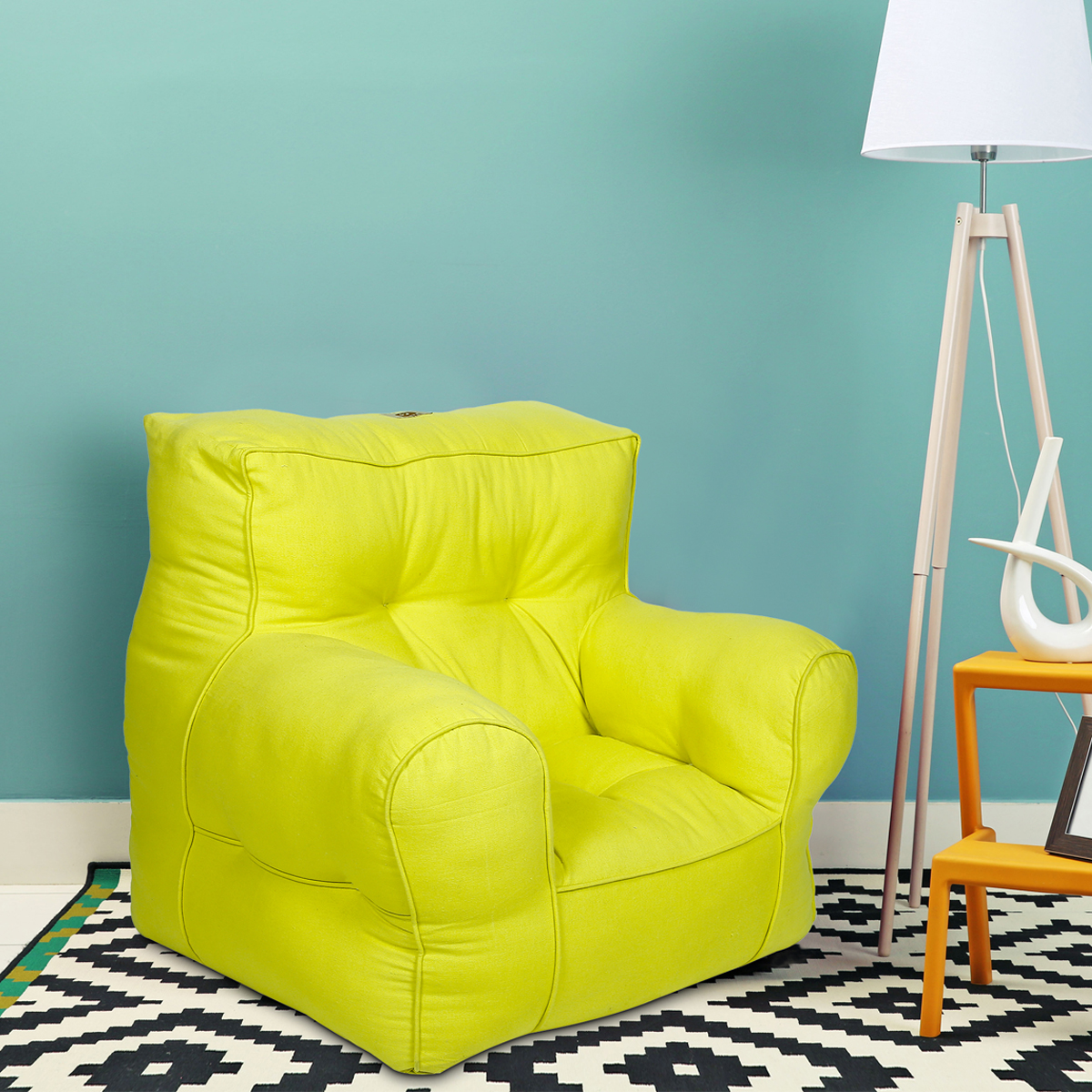 Yellow  Organic Cotton  adult Sofa