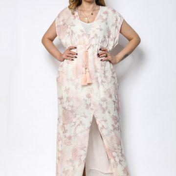 100% pure organic linen kaftan with digital  print