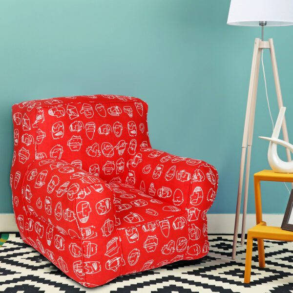 Red Printed   Organic Cotton Comfu  adult Sofa