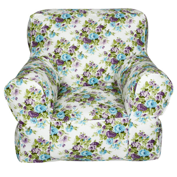 White Printed Organic Cotton Comfu kids Sofa