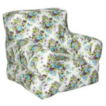 White Printed Organic Cotton Comfu adult Sofa