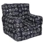Black Printed Organic Cotton Comfu  kid  Sofa