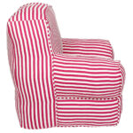 Pink and White striped  Organic Cotton  kids  Sofa