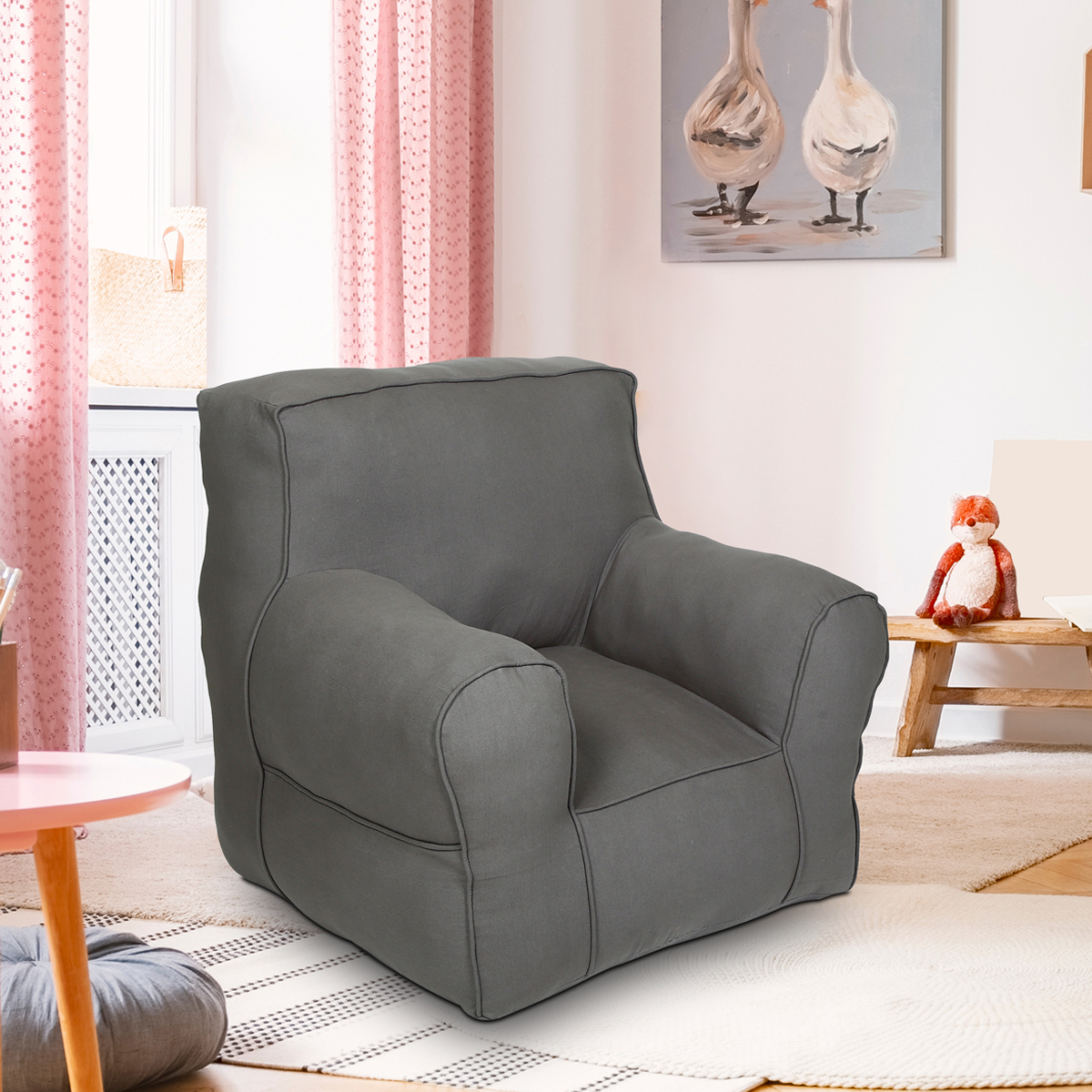 Grey  Organic Cotton adult  Sofa